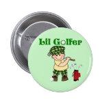 Litttle Golfer Pinback Buttons