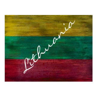 Lituania apenó la bandera lituana tarjetas postales