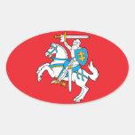 Lituania/bandera lituana pegatina oval personalizadas