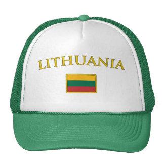 Lituania de oro gorras