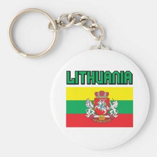 Lituania Llavero Redondo Tipo Pin