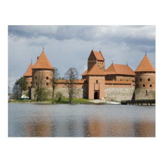 Lituania, Trakai. Castillo 2 de la isla Tarjeta Postal