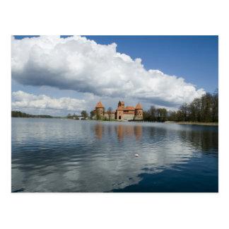 Lituania, Trakai. Castillo de la isla Tarjeta Postal