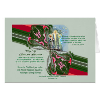 Liturgical Advent Christmas Lent info & pictures Card