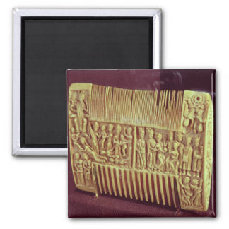Liturgical comb, School of St.Albans, c.1120 2 Inch Square Magnet