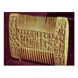 Liturgical comb, School of St.Albans, c.1120 Postcard