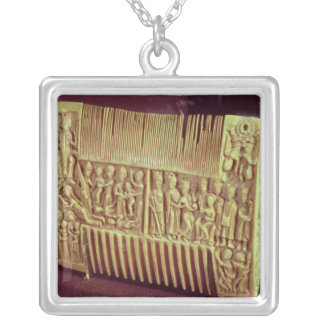 Liturgical comb, School of St.Albans, c.1120 Silver Plated Necklace