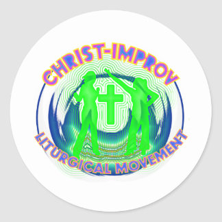 Liturgical Dance improvisation in Christs Name Classic Round Sticker