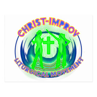 Liturgical Dance improvisation in Christs Name Postcard