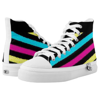 Liv And shay Rainbow Tops Printed Shoes