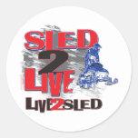 Live 2 Sled Sled 2 Live Classic Round Sticker