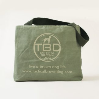 Live a Brown Dog Life canvas tote