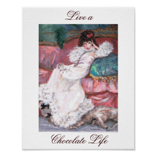 Live a Chocolate Life Poster
