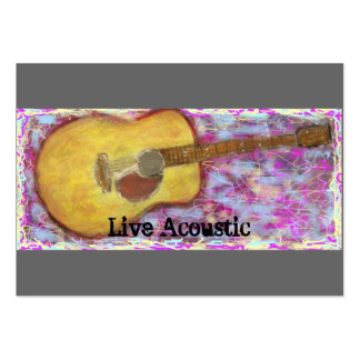 Live Acoustic Guitar Large Business Card