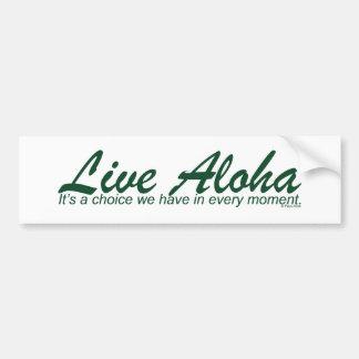 Live Aloha Design Items by Paul Klink Bumper Stickers