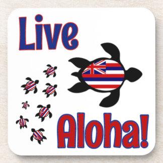 Live Aloha! Hawaii Beverage Coaster