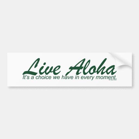 Live Aloha Landscape Design Bumper Sticker