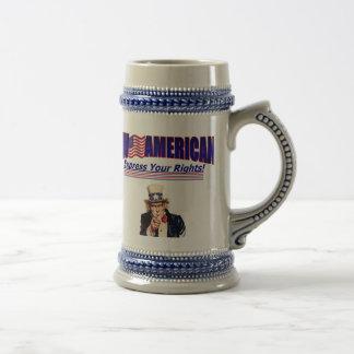 Live American idol Uncle Sam Stien 18 Oz Beer Stein