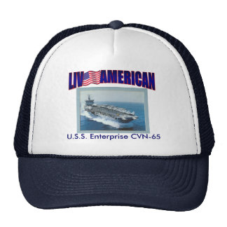 Live American U.S.S. Enterprise Trucker Hat