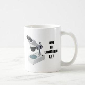 Live An Examined Life (Microscope) Coffee Mug