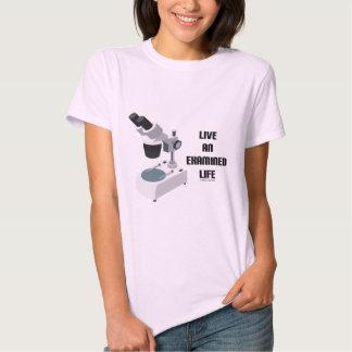 Live An Examined Life (Microscope) T-shirt