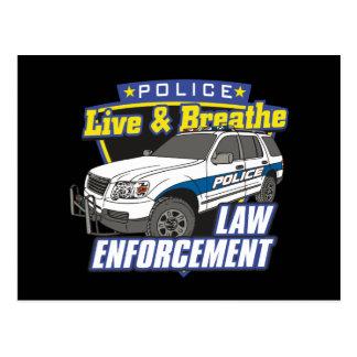 Live and Breathe Law Enforcement Postcard