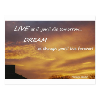 Live and Dream Postcard