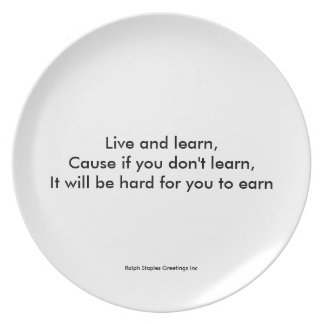 Live and Learn Dinner Plate