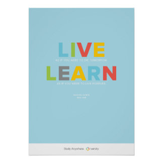 Live and Learn Print