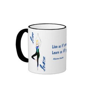 Live and Learn Yoga Mug