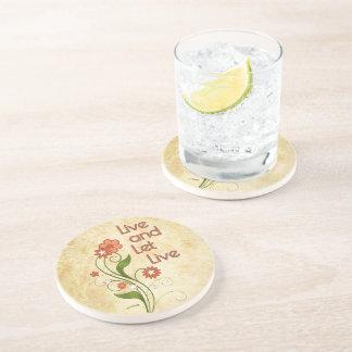 Live and Let Live (12 step programs) Drink Coaster