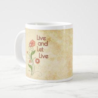 Live and Let Live (12 step programs) Giant Coffee Mug