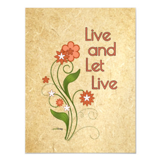 Live and Let Live (12 step programs) Magnetic Card