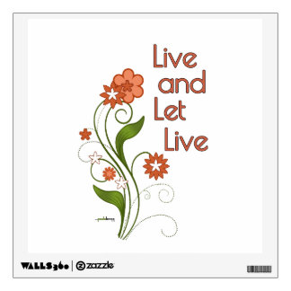 Live and Let Live (12 step programs) Wall Decal