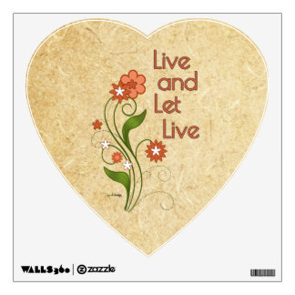 Live and Let Live (12 step programs) Wall Sticker