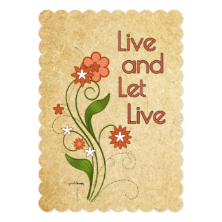 Live and Let Live (12 step recovery programs) Card