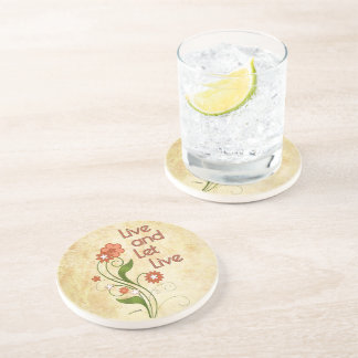 Live and Let Live (12 step recovery programs) Drink Coaster