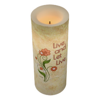 Live and Let Live (12 step recovery programs) Flameless Candle