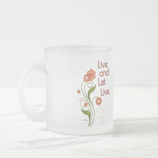Live and Let Live (12 step recovery programs) Frosted Glass Coffee Mug