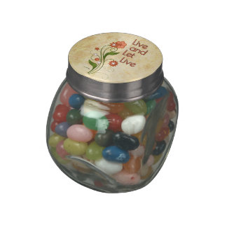 Live and Let Live (12 step recovery programs) Glass Jar