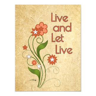 Live and Let Live (12 step recovery programs) Magnetic Card