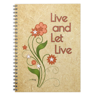 Live and Let Live (12 step recovery programs) Notebook