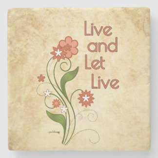 Live and Let Live (12 step recovery programs) Stone Coaster