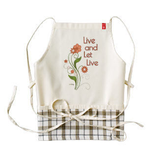 Live and Let Live (12 step recovery programs) Zazzle HEART Apron