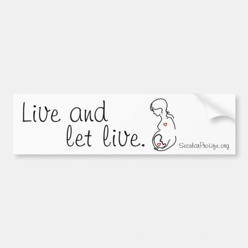 Live and Let Live (2) Bumper Stickers