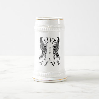LIVE AND LET LIVE BEER STEIN