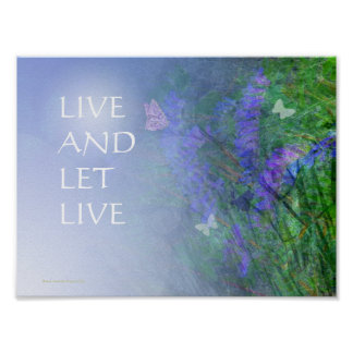 LIVE AND LET LIVE Butterflies & Vetch Print
