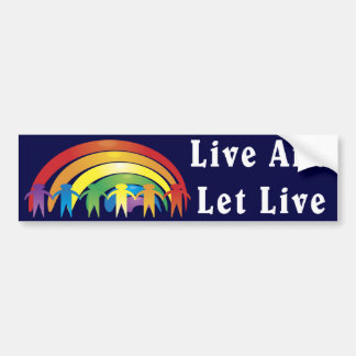 Live And Let Live Car Bumper Sticker