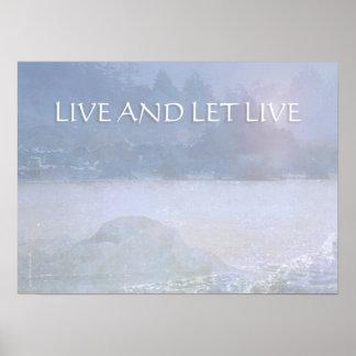 LIVE AND LET LIVE Lavender Blue Bay Print