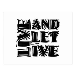 Live and Let Live Postcard